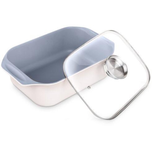Lamart HL0803 Tavă de friptură cu capac de sticlă 8,5L