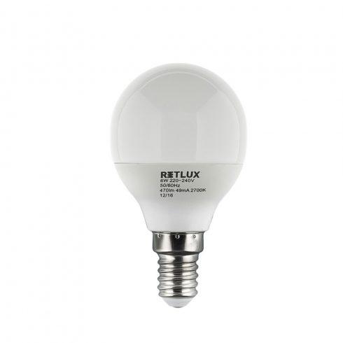 Retlux RLL 268 G45 E14 miniG 6W WW bec LED (alb cald 2700K)