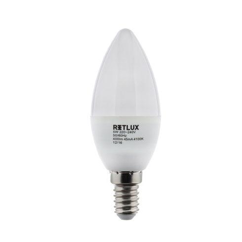 Retlux RLL 263 C35 E14 5W CW Bec LED (alb rece 4100K)