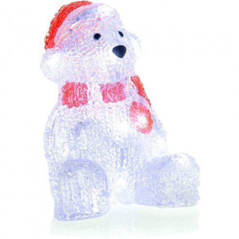 Retlux RXL 252 decor de Crăciun, urs polar, acrilic, 16 LED-uri, alb rece