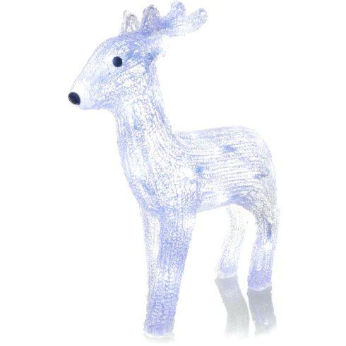 Retlux RXL 253 decor de Crăciun, ren, acrilic, 30 de LED-uri, alb rece
