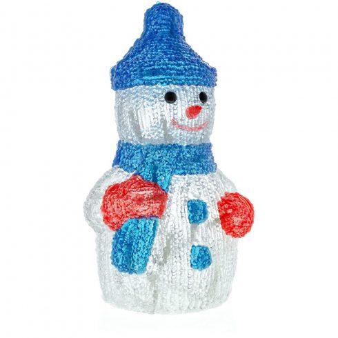 Retlux RXL 254 decor de Crăciun, om de zăpadă, acrilic, 30 de LED-uri, alb rece