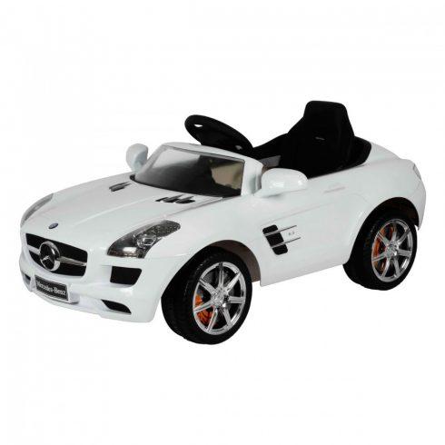Mașină electrică Mercedes SLS, de la 3 ani, 3 km/h, alb