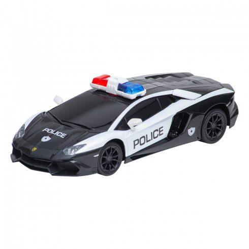 Lamborghini, mașină poliție cu telecomandă, 1:24, alb-negru