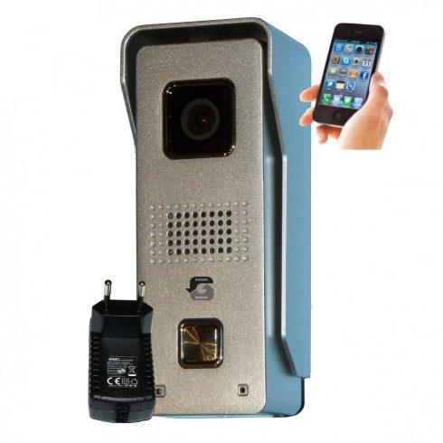 Videointerfon wireless cu carcasă metalică IP65, compatibil cu Android sau iOS