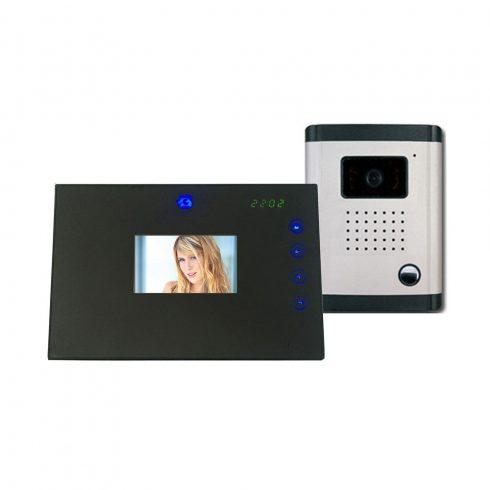 """Monitor LCD TFT ecran plat 2 x 3,5 """" cu cameră color CMOS cu control buton tactil"""