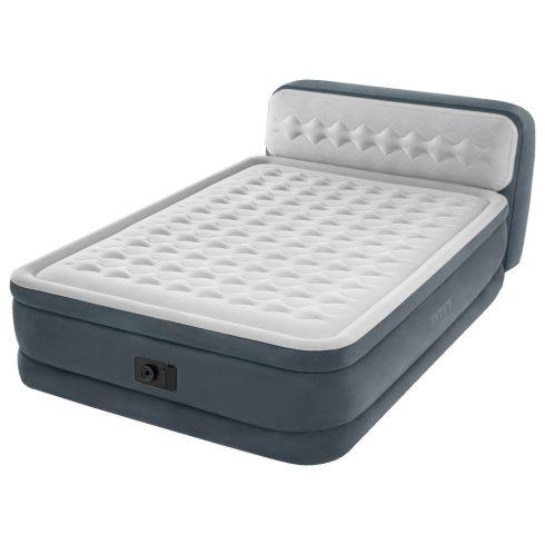 INTEX Ultra Plush pat gonflabil cu tetieră, 152 x 236 x 86cm (64448)