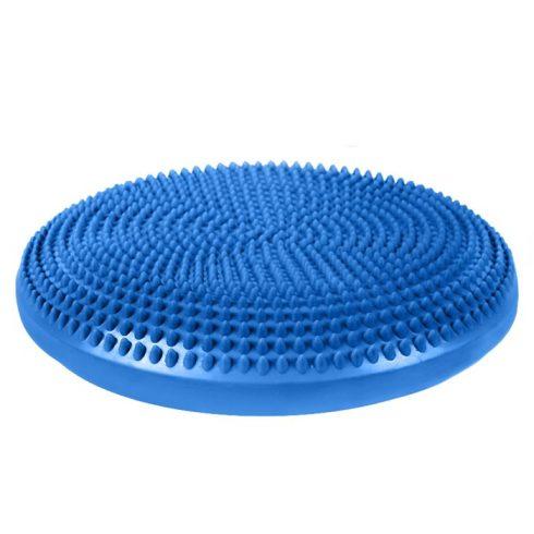 Pernă pentru echilibru și masaj gonflabilă, cu pompă, diametru 34 cm, albastru