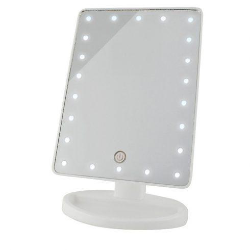 Oglindă rotativă pentru machiaj cu LED