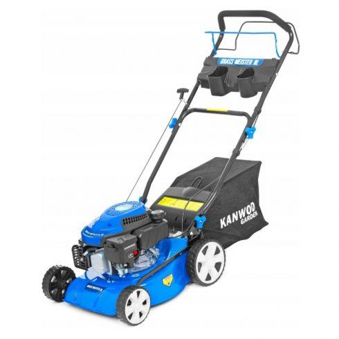 Kanwod Grass Meister Jr, mașină de tuns iarbă pe benzină cu autopropulsie, multifuncțională, 41 cm