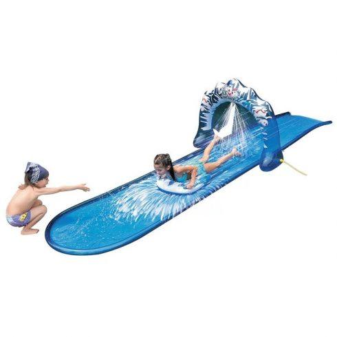Tobogan de apă, lung de 5 metri, culoare albastru