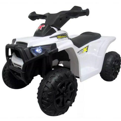 J8 quad electric pentru copii, alb