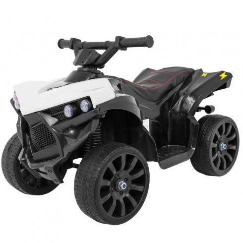 Quad electric pentru copii, alb-negru