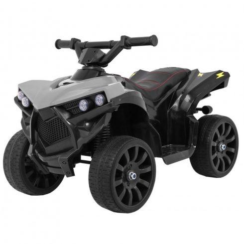 Quad electric pentru copii, gri-negru