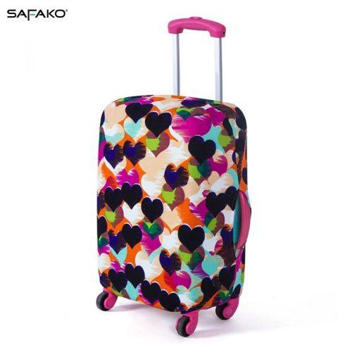 BP-A3L husă protectoare pentru valiză - inimioare - L - valiză mijlocie