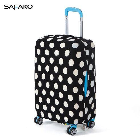 BP-A4L husă protectoare pentru valiză - cu buline - L - valiză mijlocie