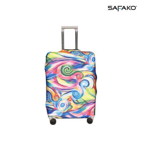 BP-B4M husă protectoare pentru valiză - multicolor - M - valiză mică