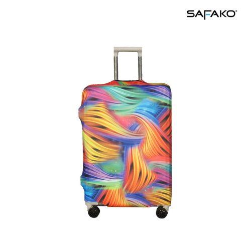 BP-B5L husă protectoare pentru valiză - împletitură colorată - L - valiză mijlocie