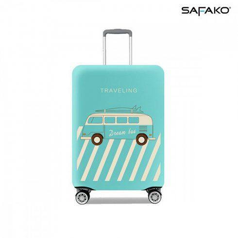 BP-C4M husă protectoare pentru valiză - voiaj albastru pastel - M - valiză mică