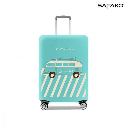 BP-C4S husă protectoare pentru valiză - voiaj albastru pastel - S - bagaj mare de mână