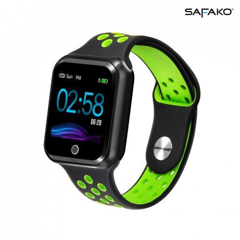 Ceas inteligent Safako SWP10  (negru - verde)
