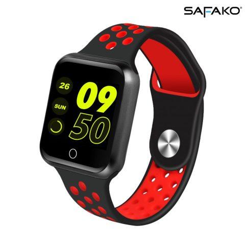 Ceas inteligent Safako SWP10  (negru - roșu)