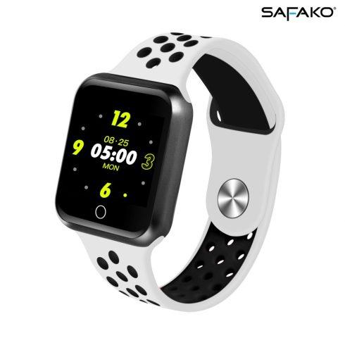 Ceas inteligent Safako SWP10  (alb - negru)
