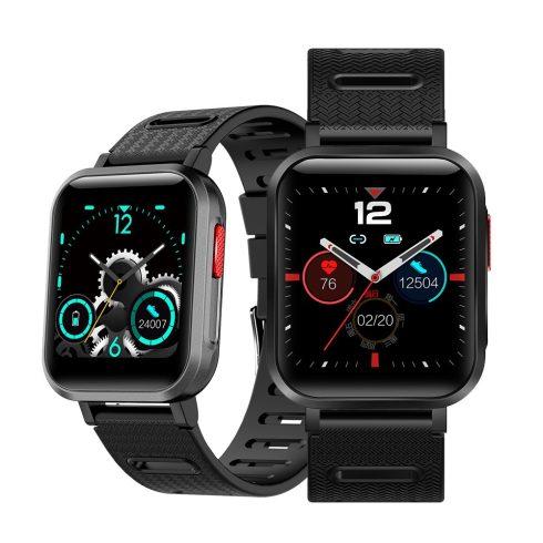 Safako SWP11, ceas inteligent, negru - curea neagră
