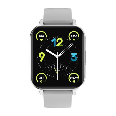 Safako SWP21, ceas inteligent, argintiu - curea gri