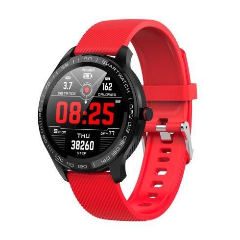 Safako SWP51, ceas inteligent, negru - curea roșie