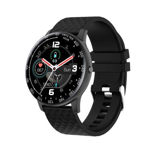 Safako SWP56, ceas inteligent, negru - curea silocon neagră