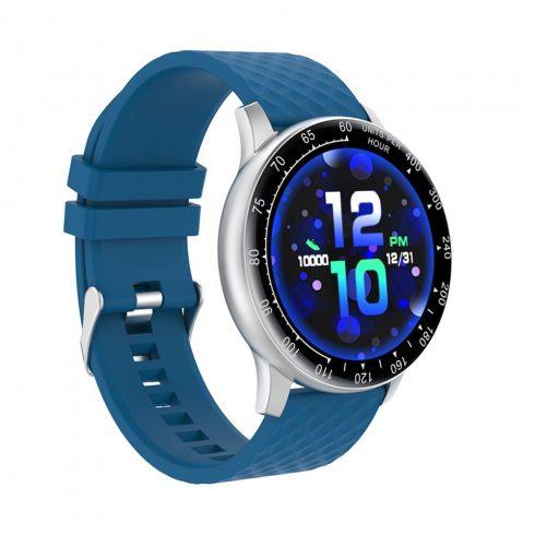 Safako SWP56, ceas inteligent, argintiu - curea silicon albastră