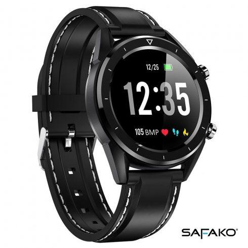 Ceas inteligent Safako SWP70 negru cu curea neagră
