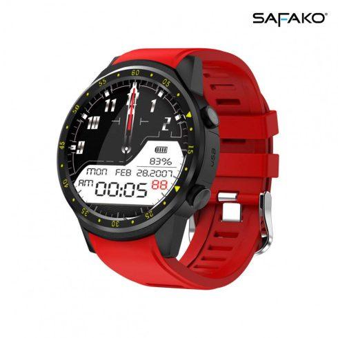 Ceas inteligent Safako SWP80 GPS roșu