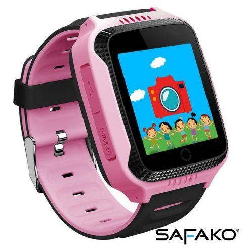 Ceas inteligent pentru copii Safako Kids 300 roz