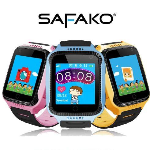 Ceas inteligent pentru copii Safako Kids 300 galben