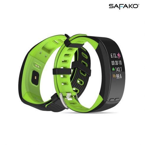 Brățară inteligentă cu GPS Safako SB9010 negru-verde