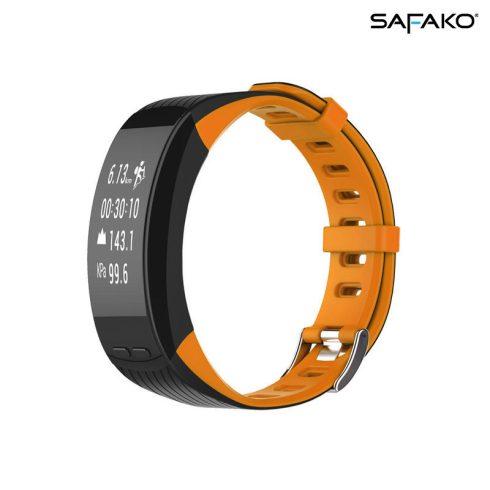 Brățară inteligentă cu GPS Safako SB9010 negru-portocaliu