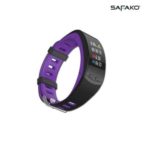 Brățară inteligentă cu GPS Safako SB9010 GPS negru-violet