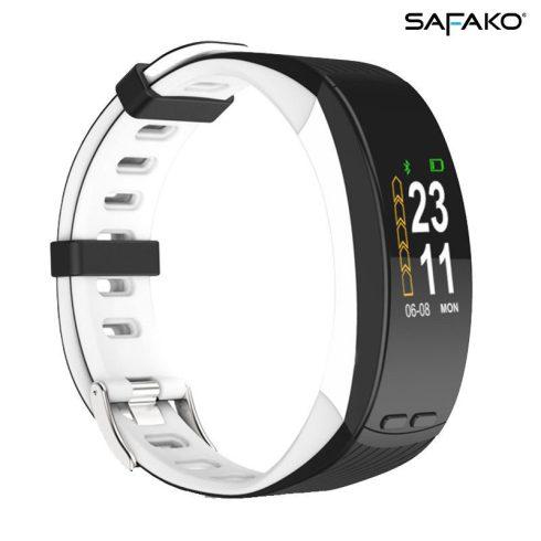 Brățară inteligentă cu GPS Safako SB9010 GPS alb-negru